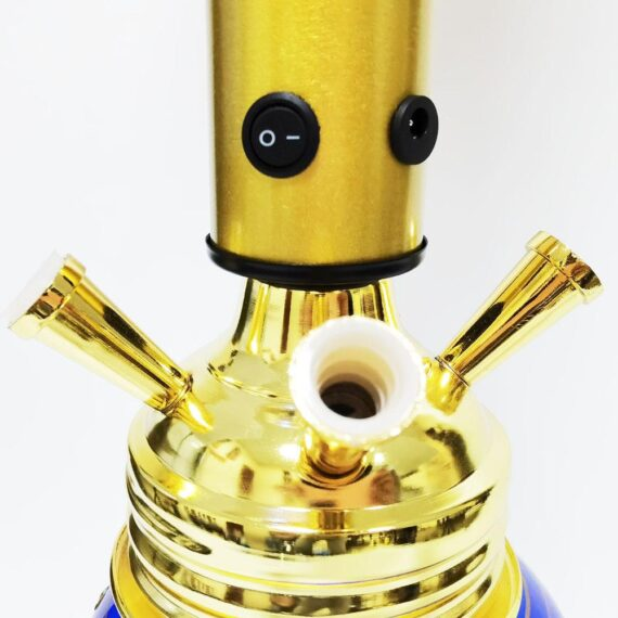 """30"""" Large Glass Water Pipe Hookah-Narguile W/ Lights (Golden Edition)"""