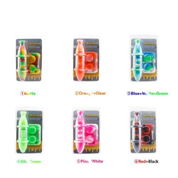 Sillicon/Glass Hybrid Nectar Collector + Dab Tools [Waxmaid]