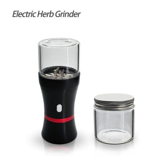 Electric Flower Herb Mill Grinder + Glass Jar (4.72)   Waxmaid